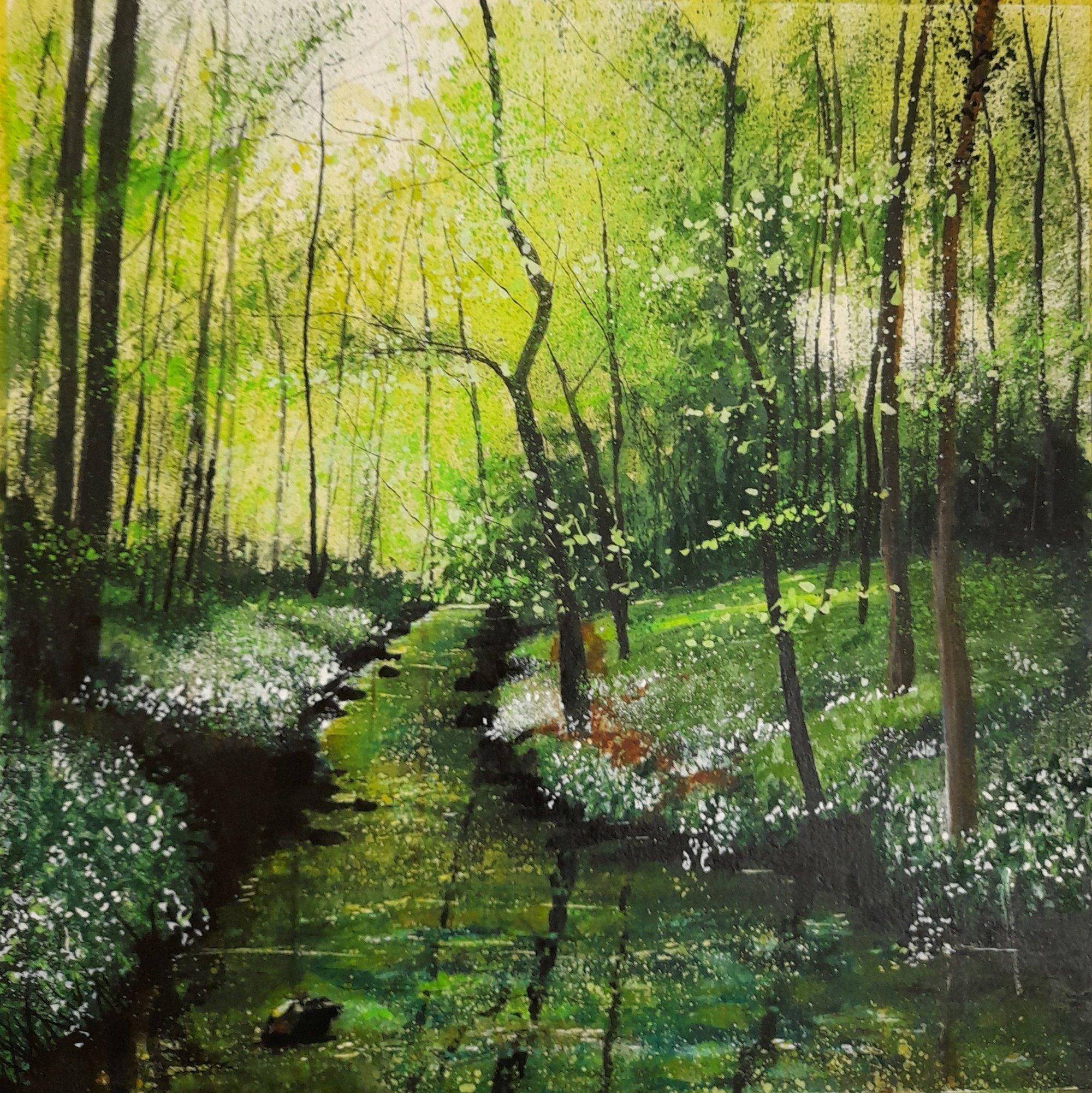 river ryton Original Landscape Art