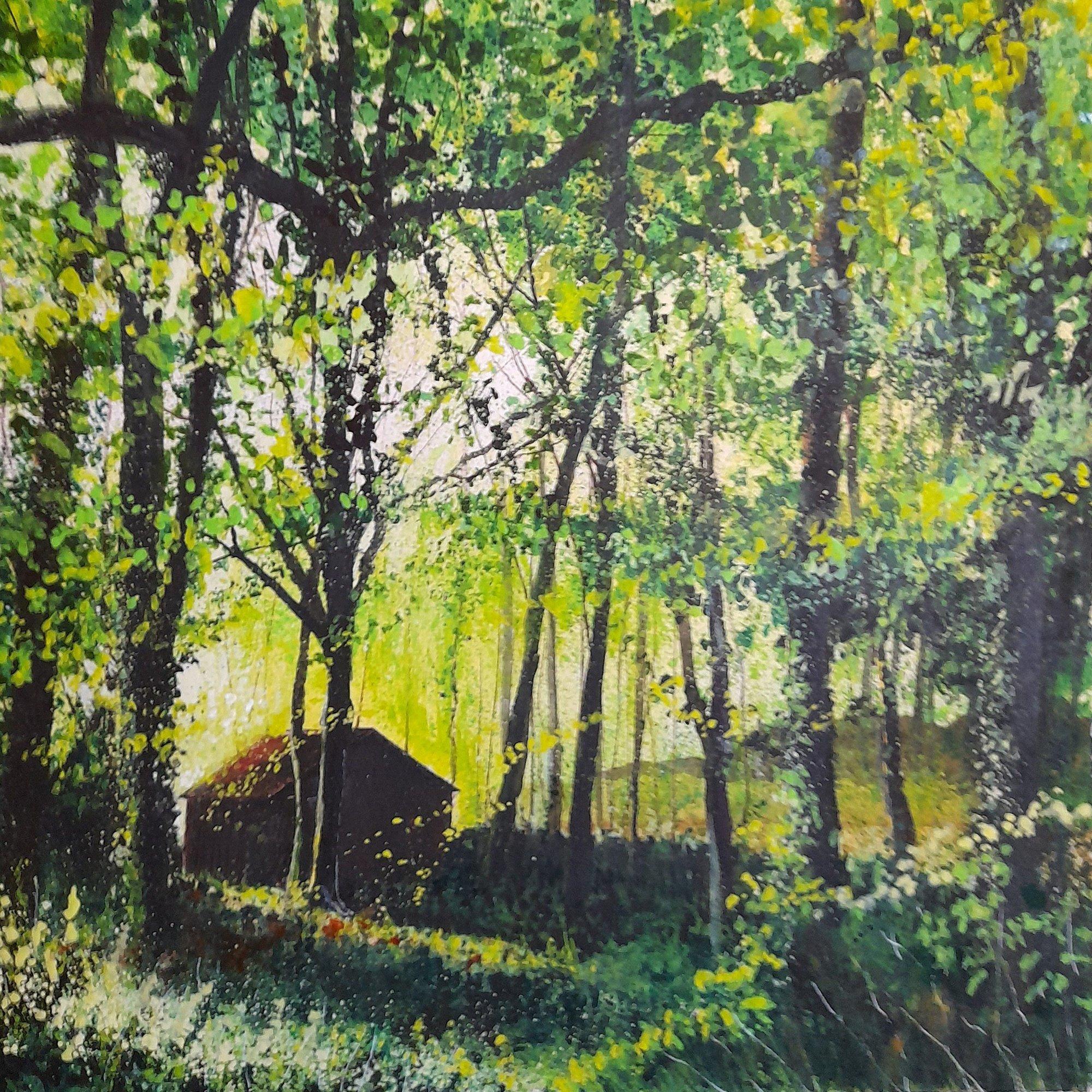 the green wood Original Landscape Art