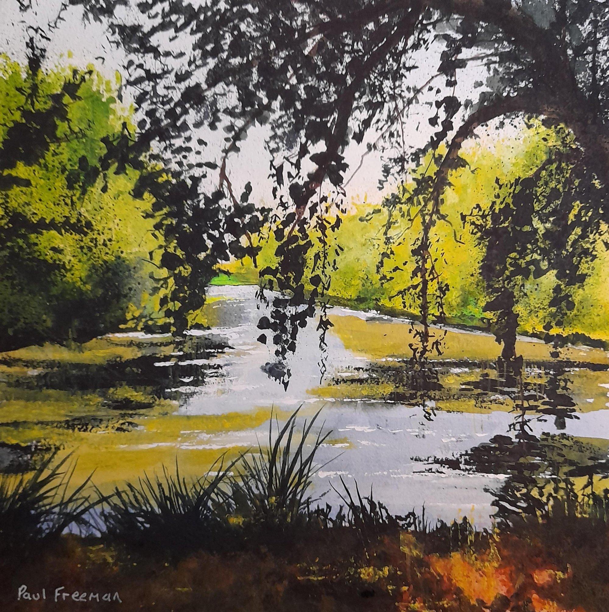 druids pond Original Landscape Art