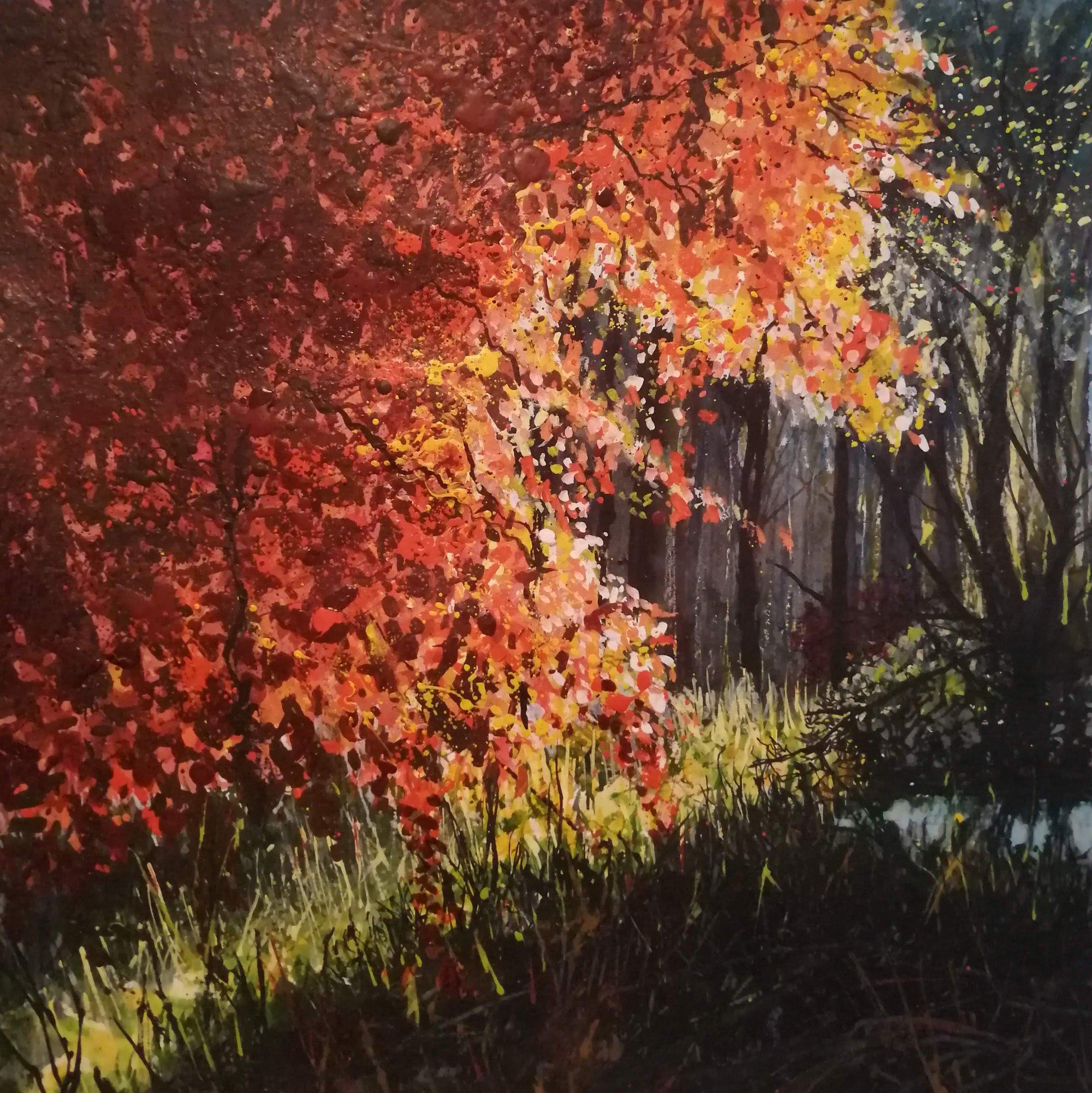 Sunlit Beech 2 Original Landscape Art