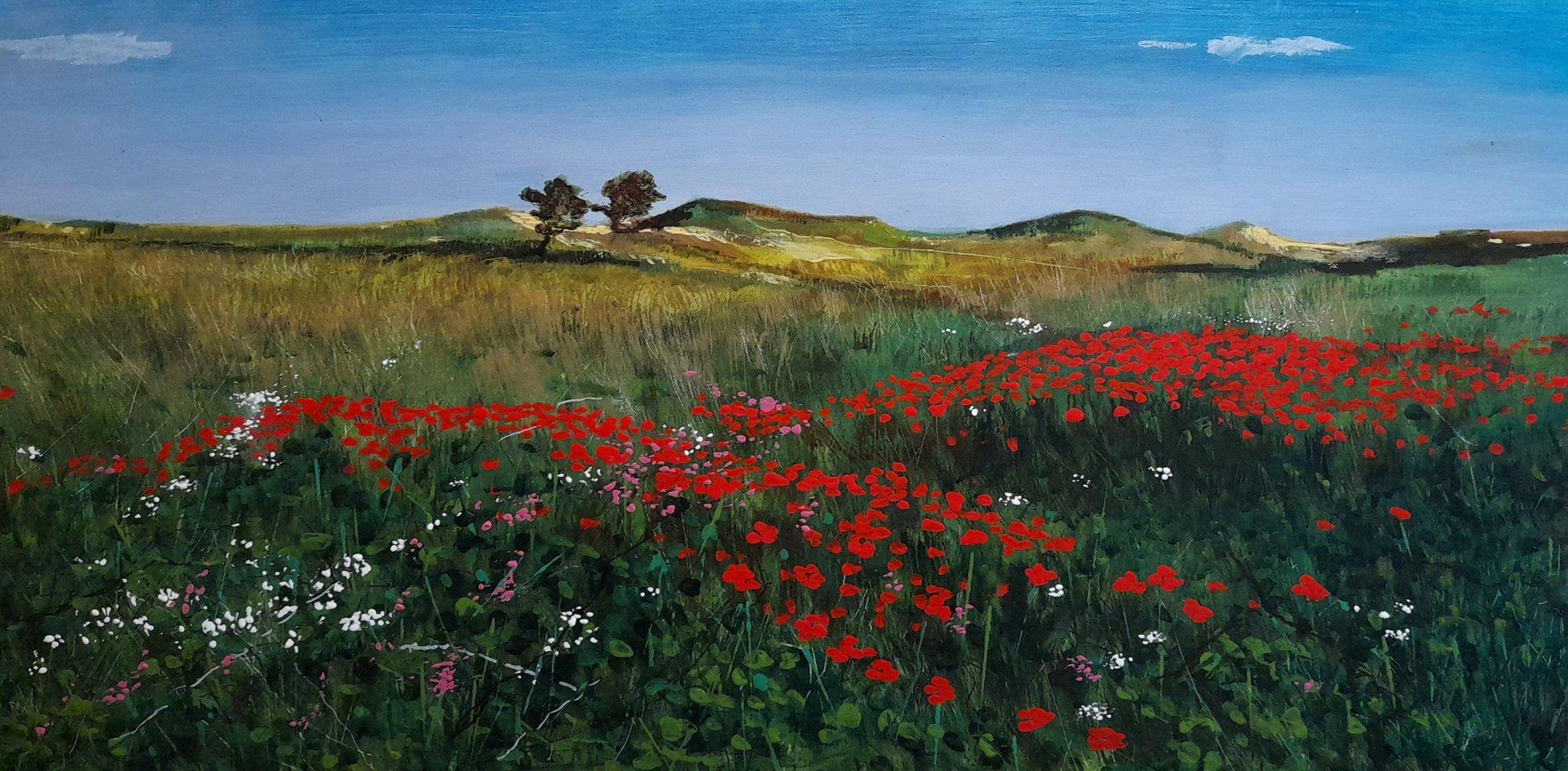 Behind the dunes Original Landscape Art