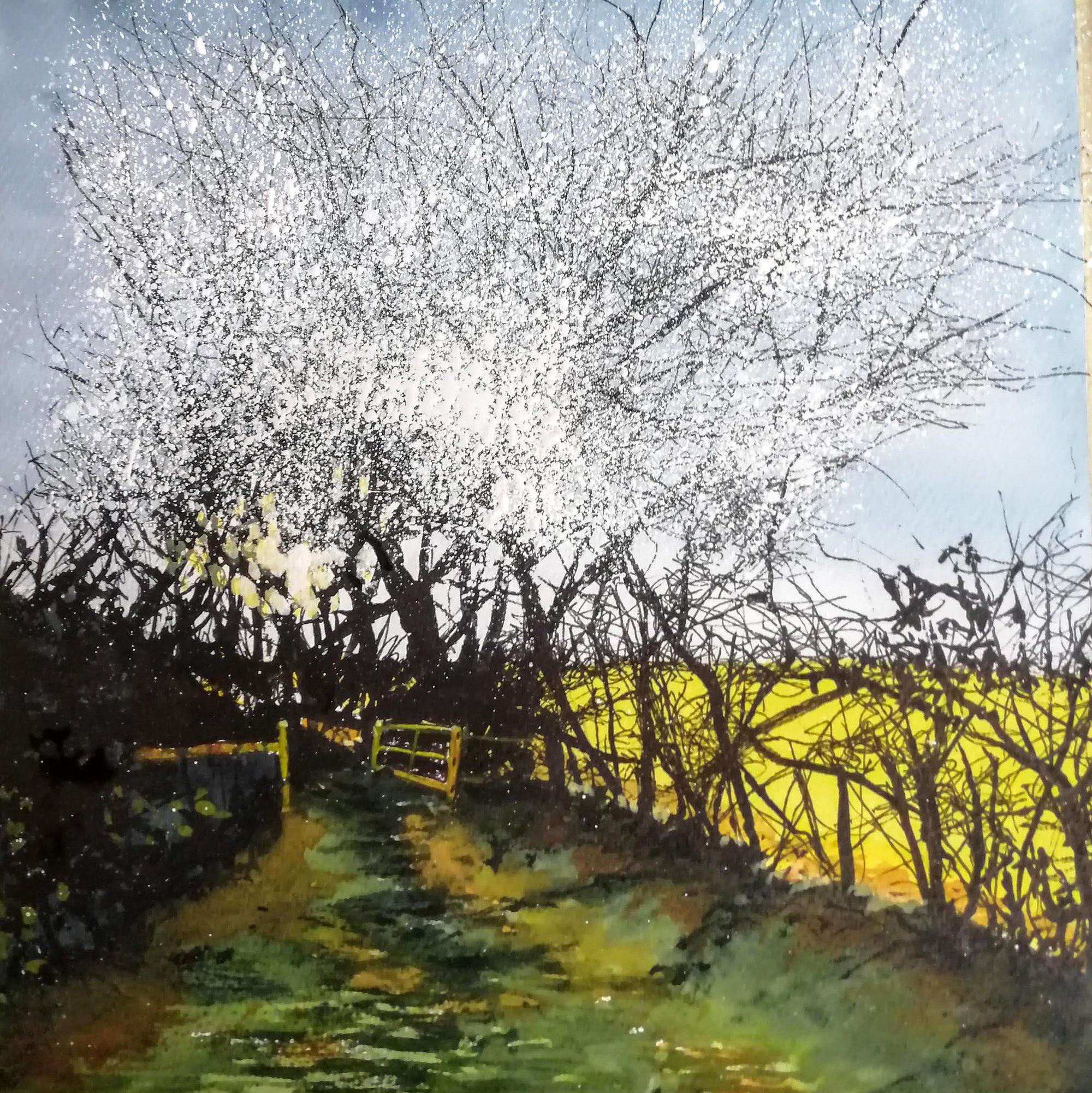 Blackthorn Original Landscape Art