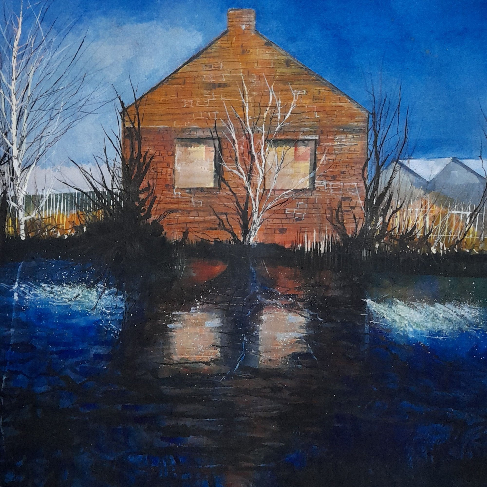 By the Sheffield Canal Original Landscape Art