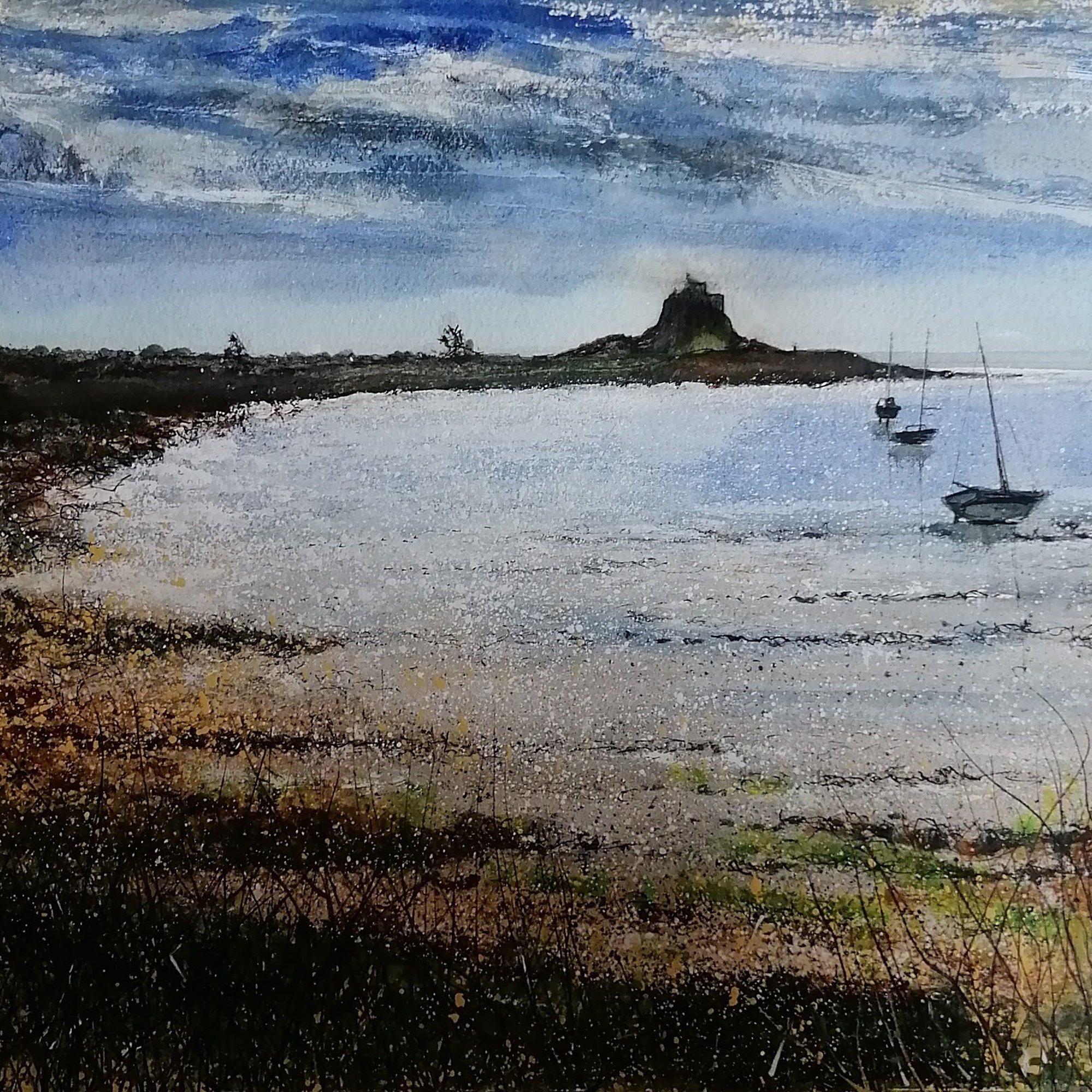 early morning on lindisfarne  Original Landscape Art