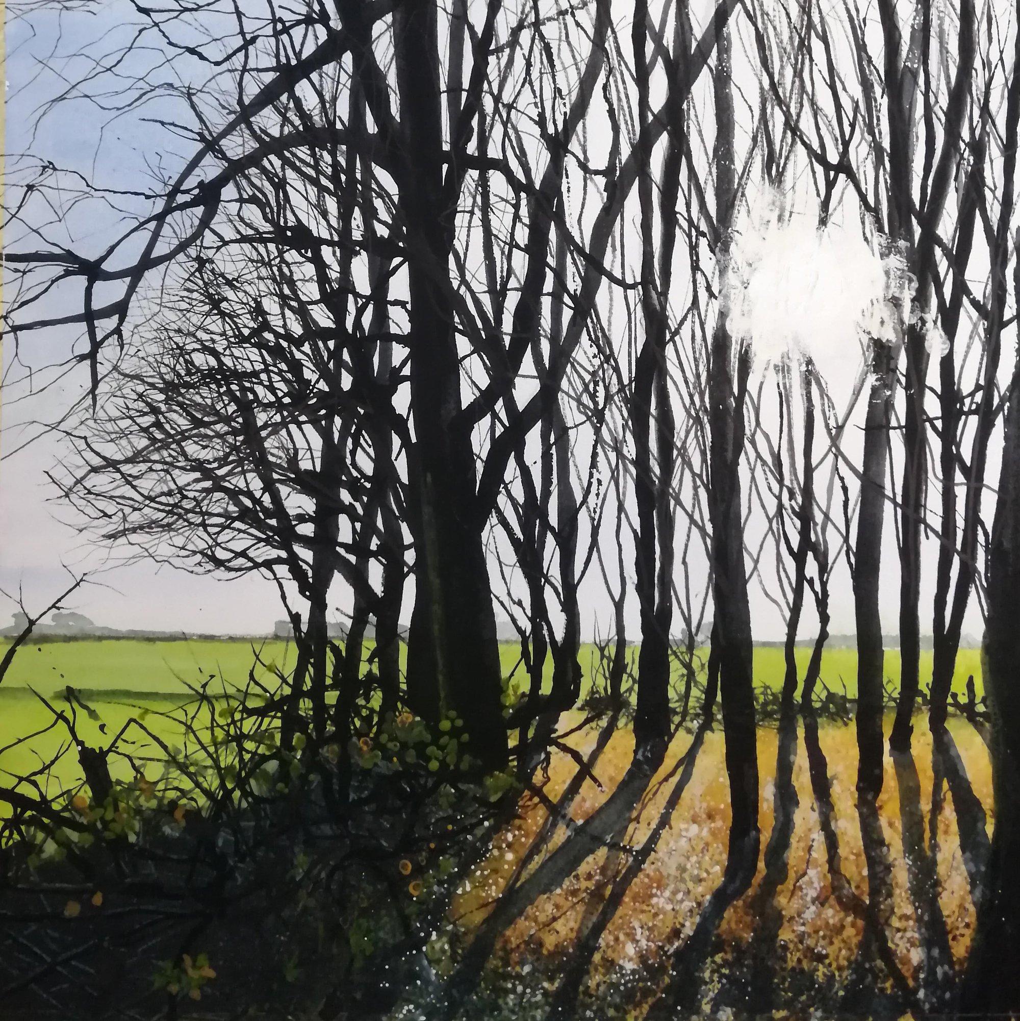 towards moor lane Original Landscape Art