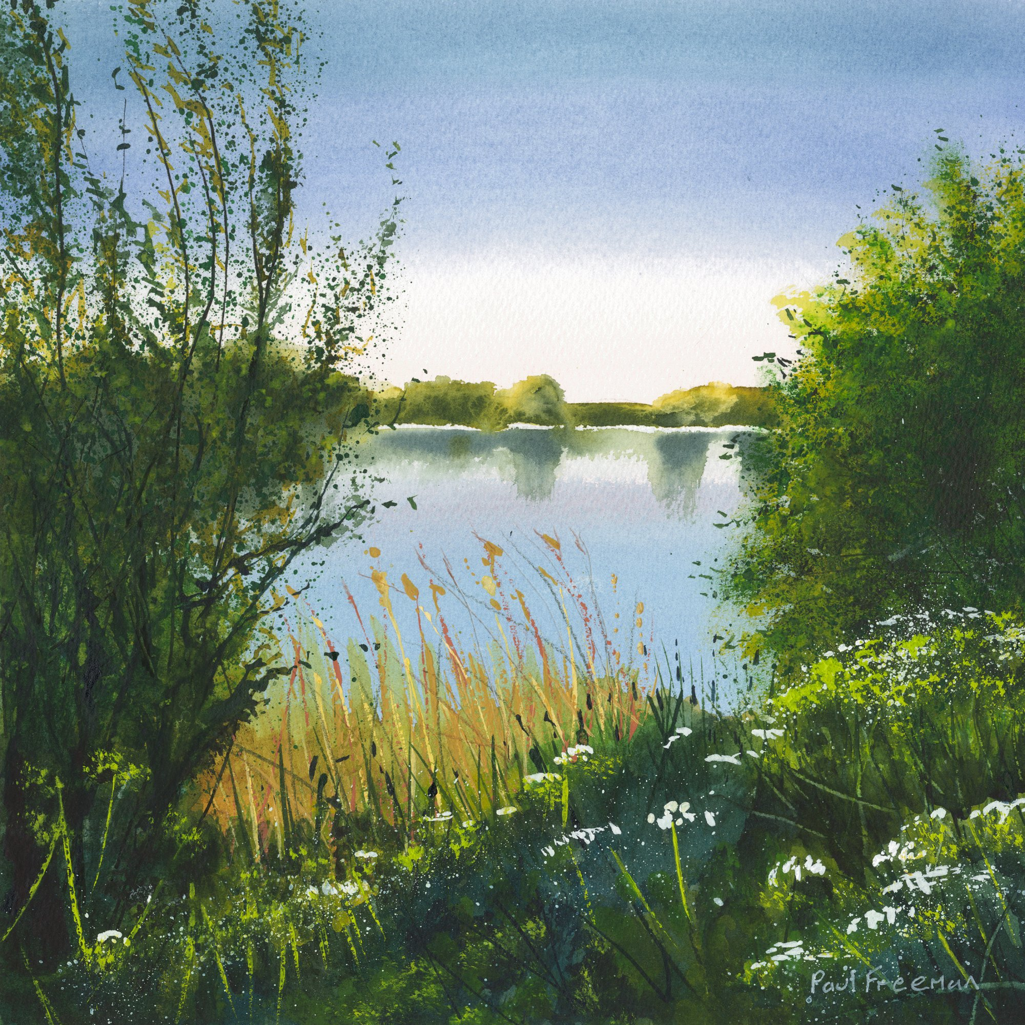 Thrybergh country park in May Original Landscape Art