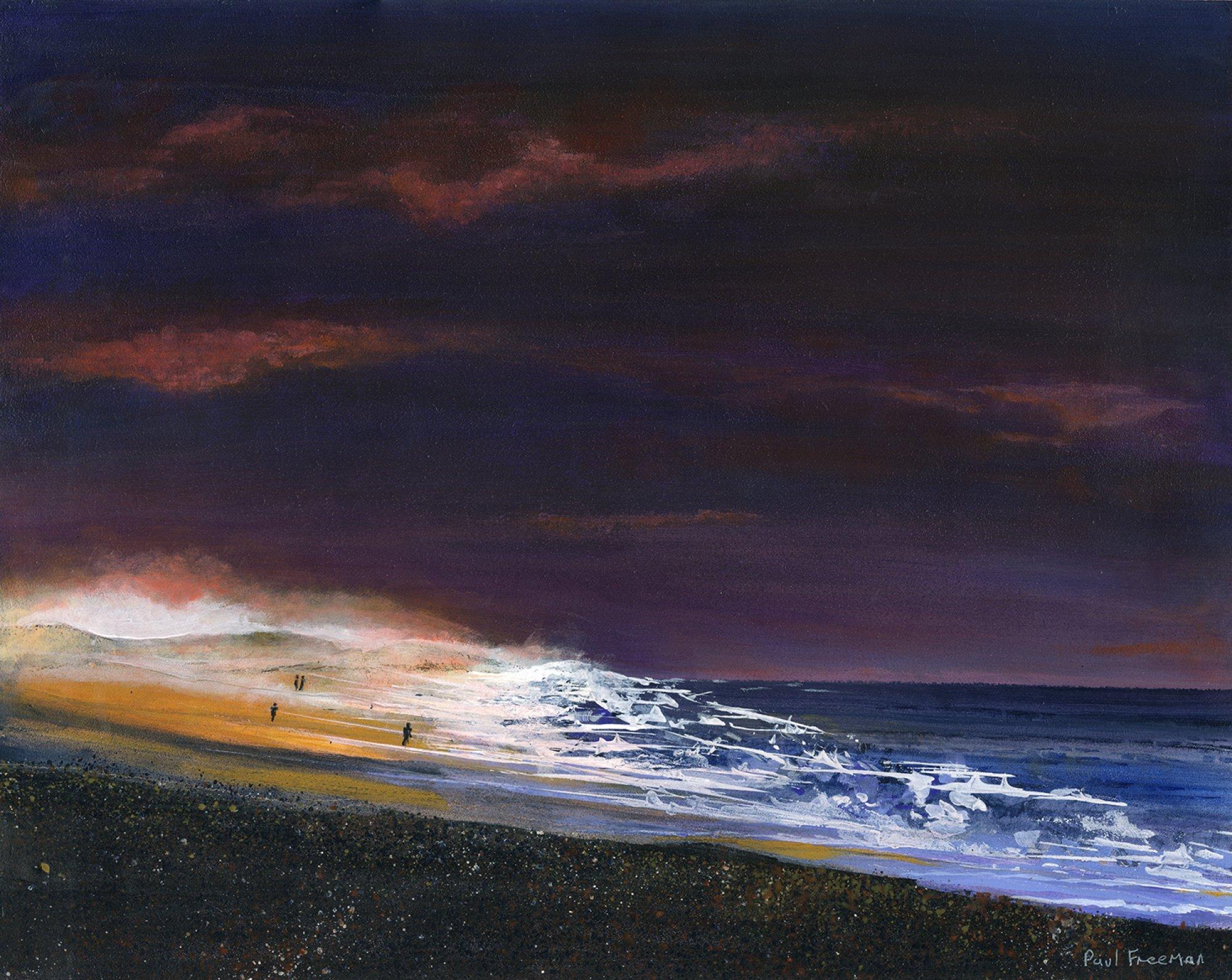 The Last light  Original Landscape Art
