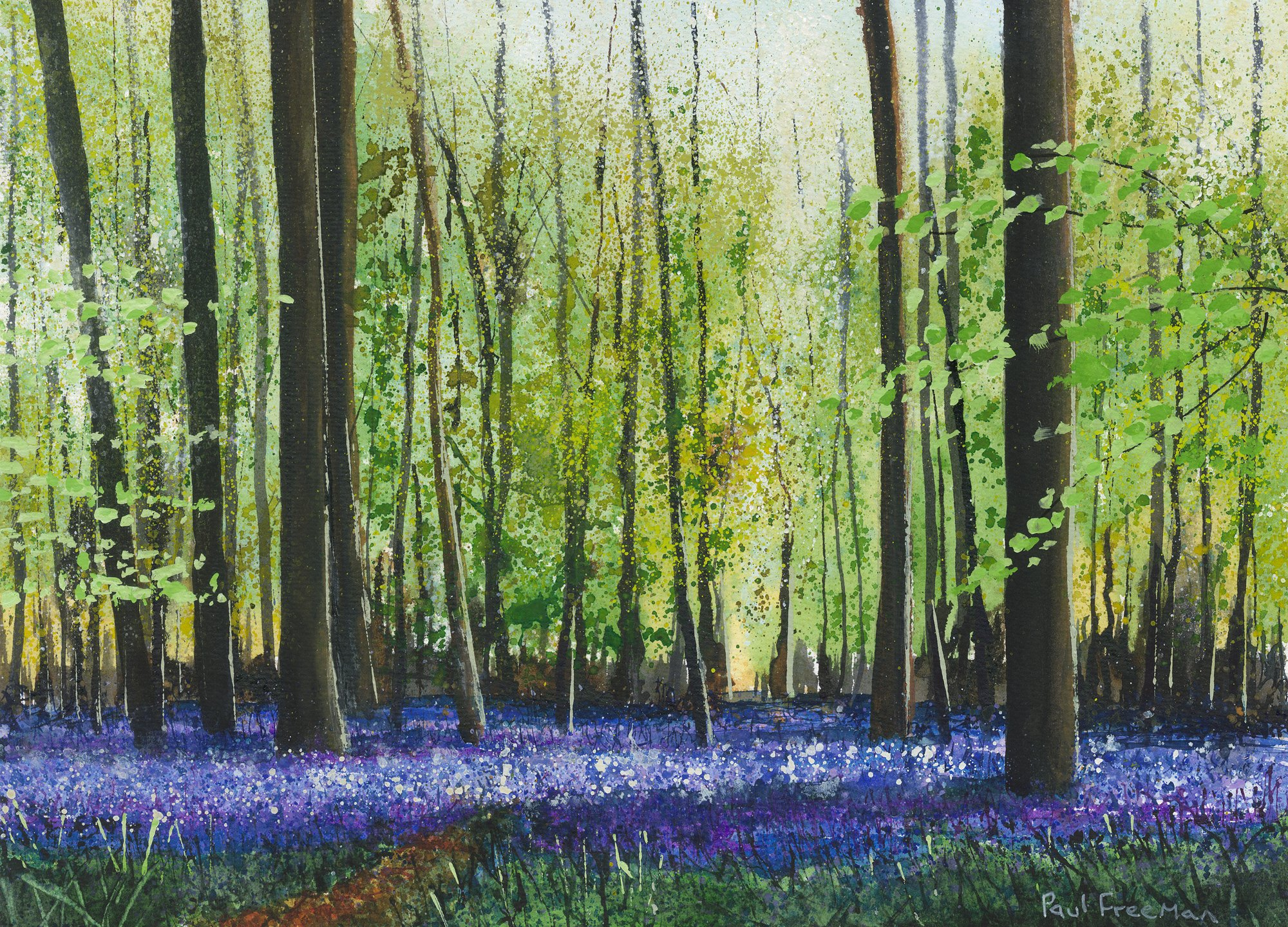 Light in Springs Blue Original Landscape Art