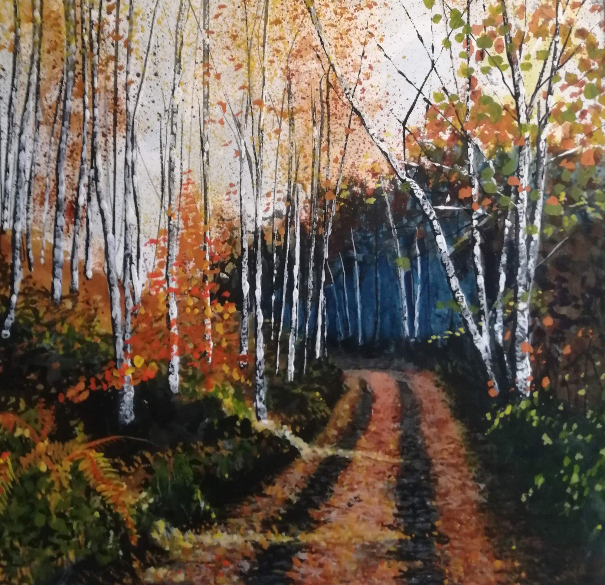 Silver Birch Original Landscape Art