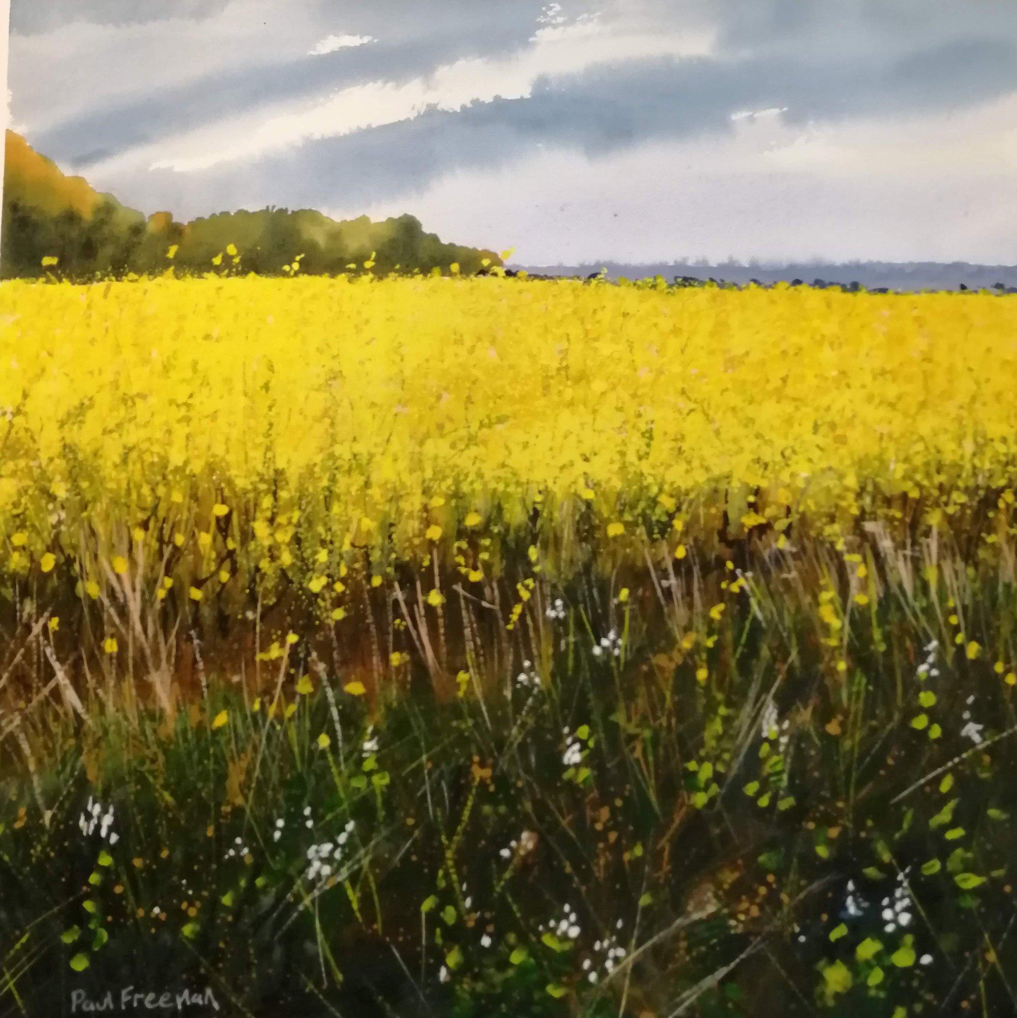 Thrybergh lane Original Landscape Art