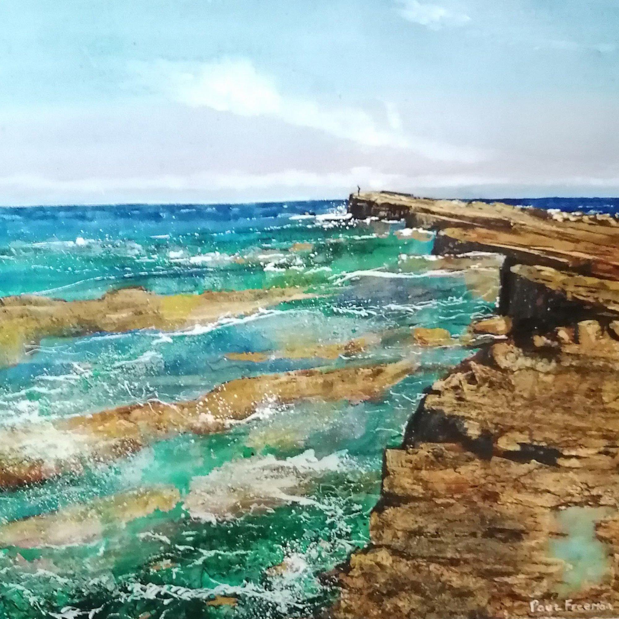Alone filey Original Landscape Art