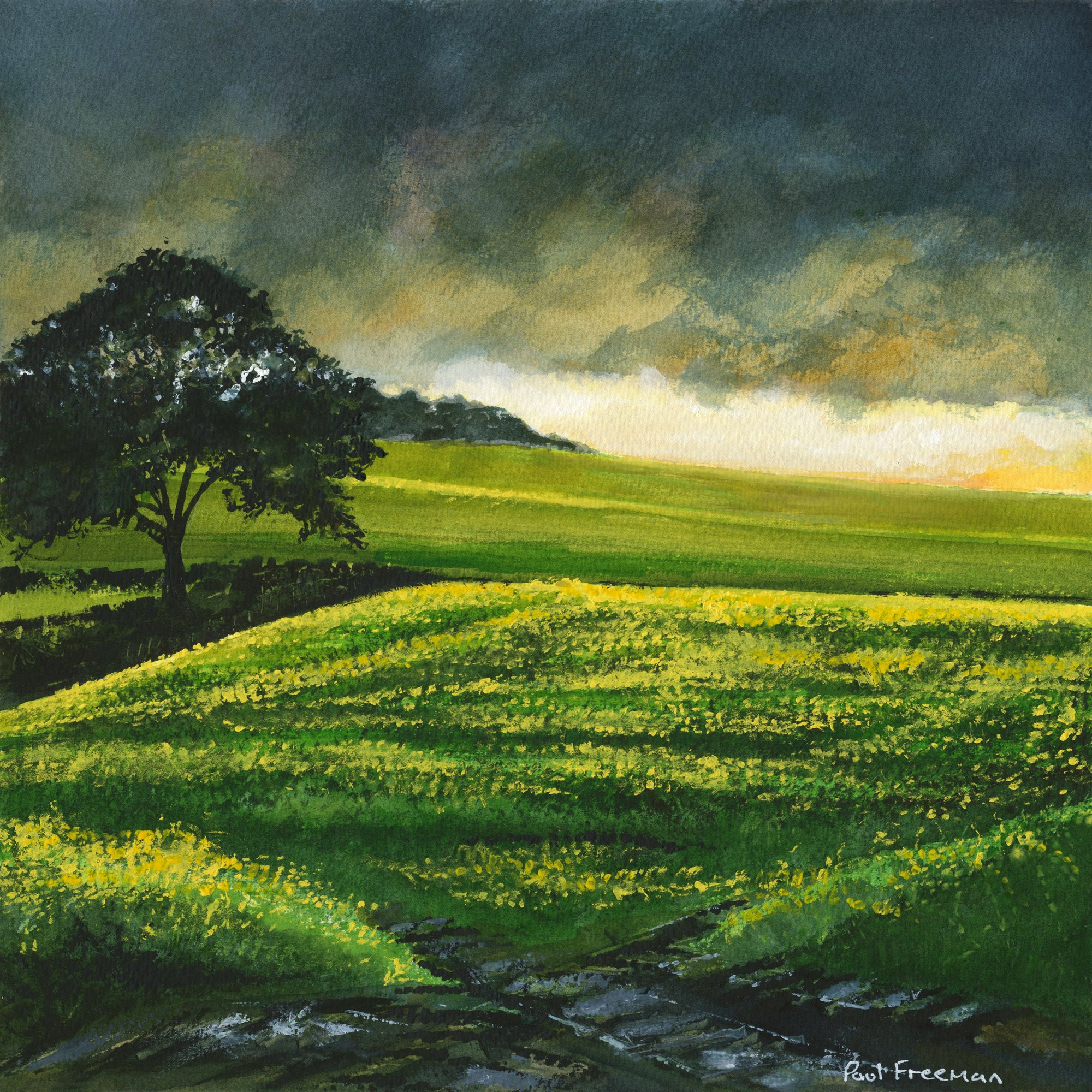 Better weather by nightfall Original Landscape Art