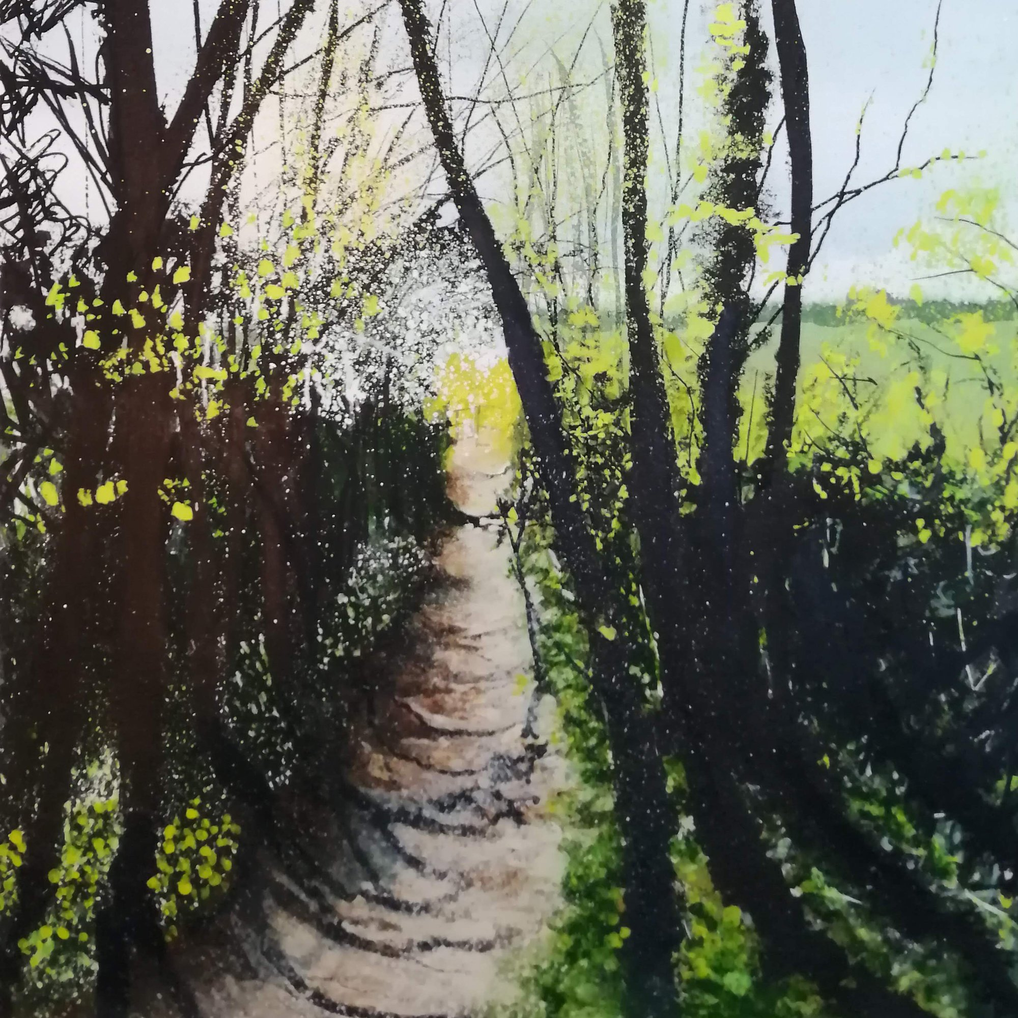 footpath to firsby brook Original Landscape Art