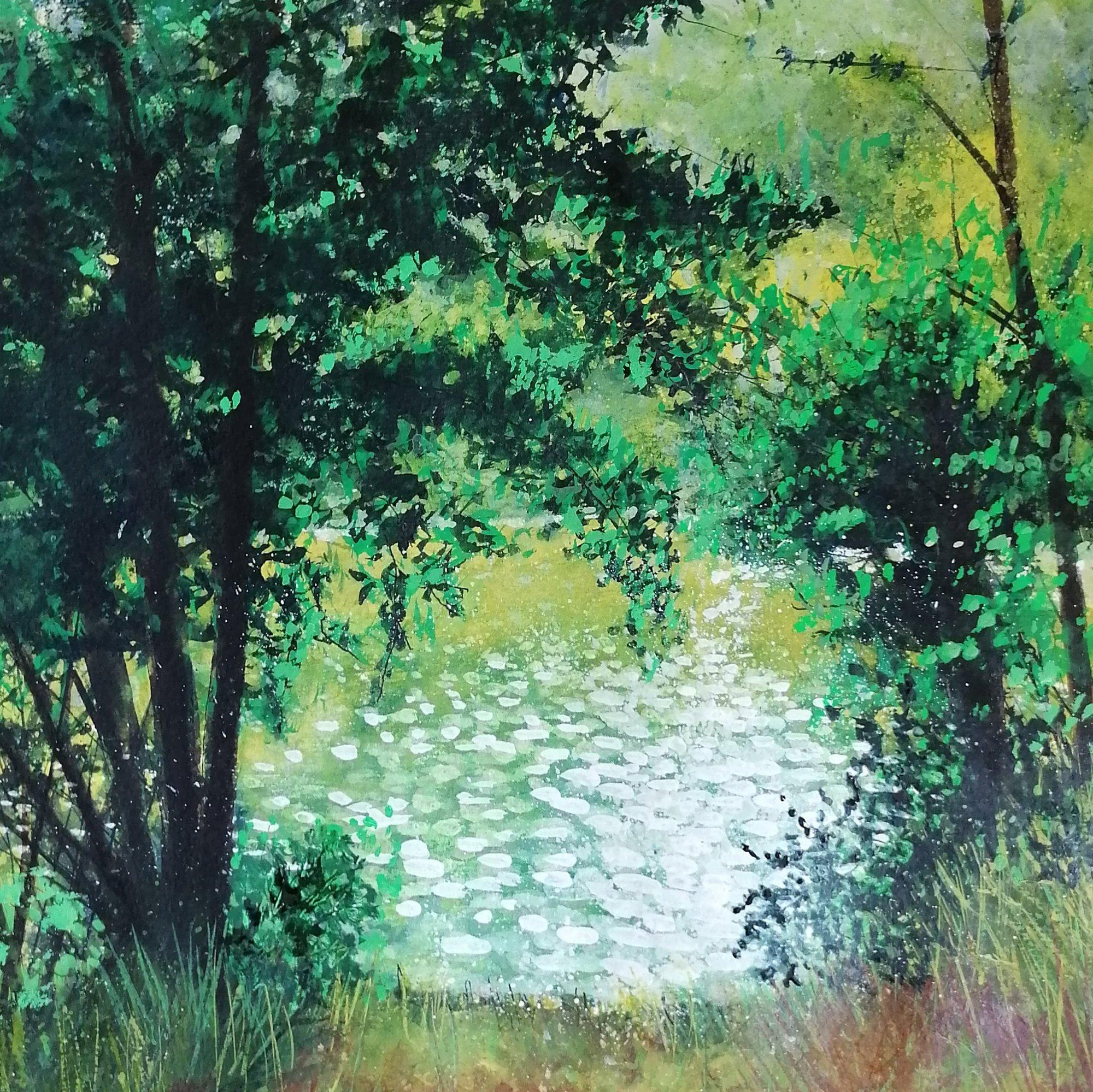 Lily Pads Original Landscape Art