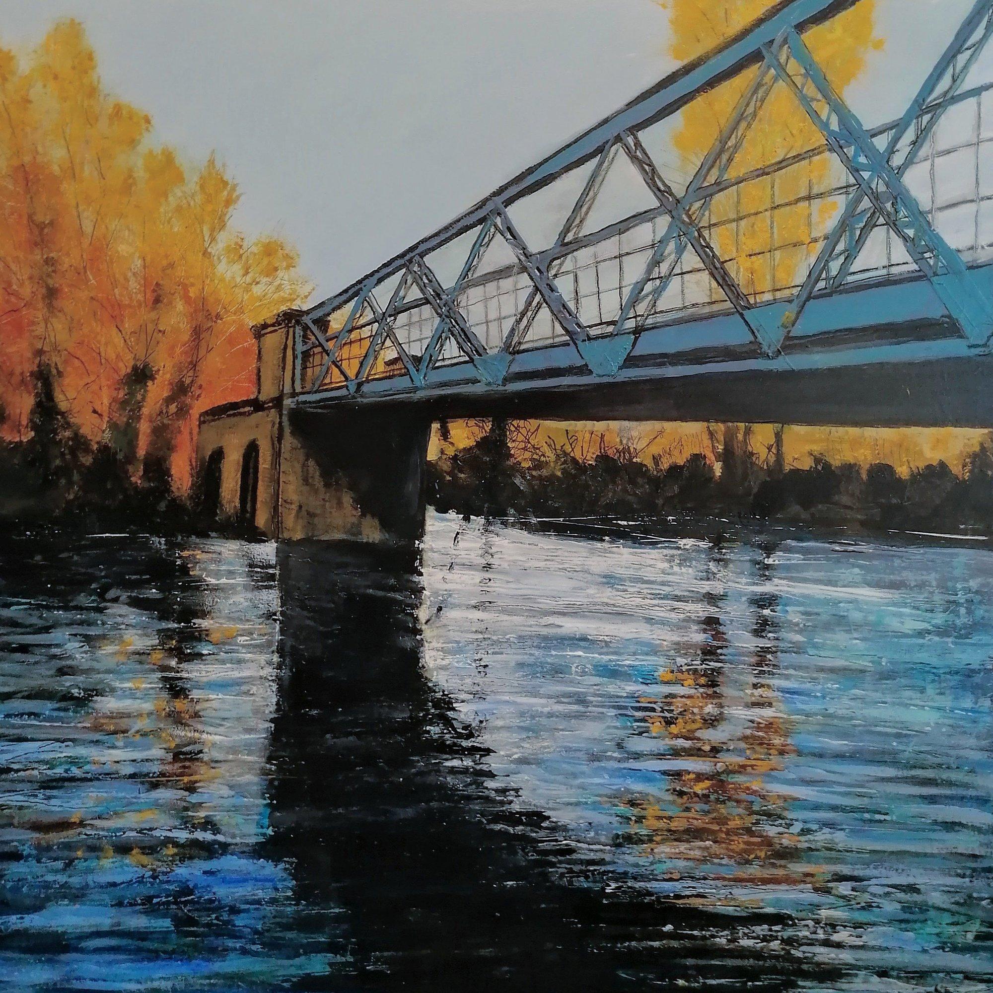 Over the River Original Landscape Art