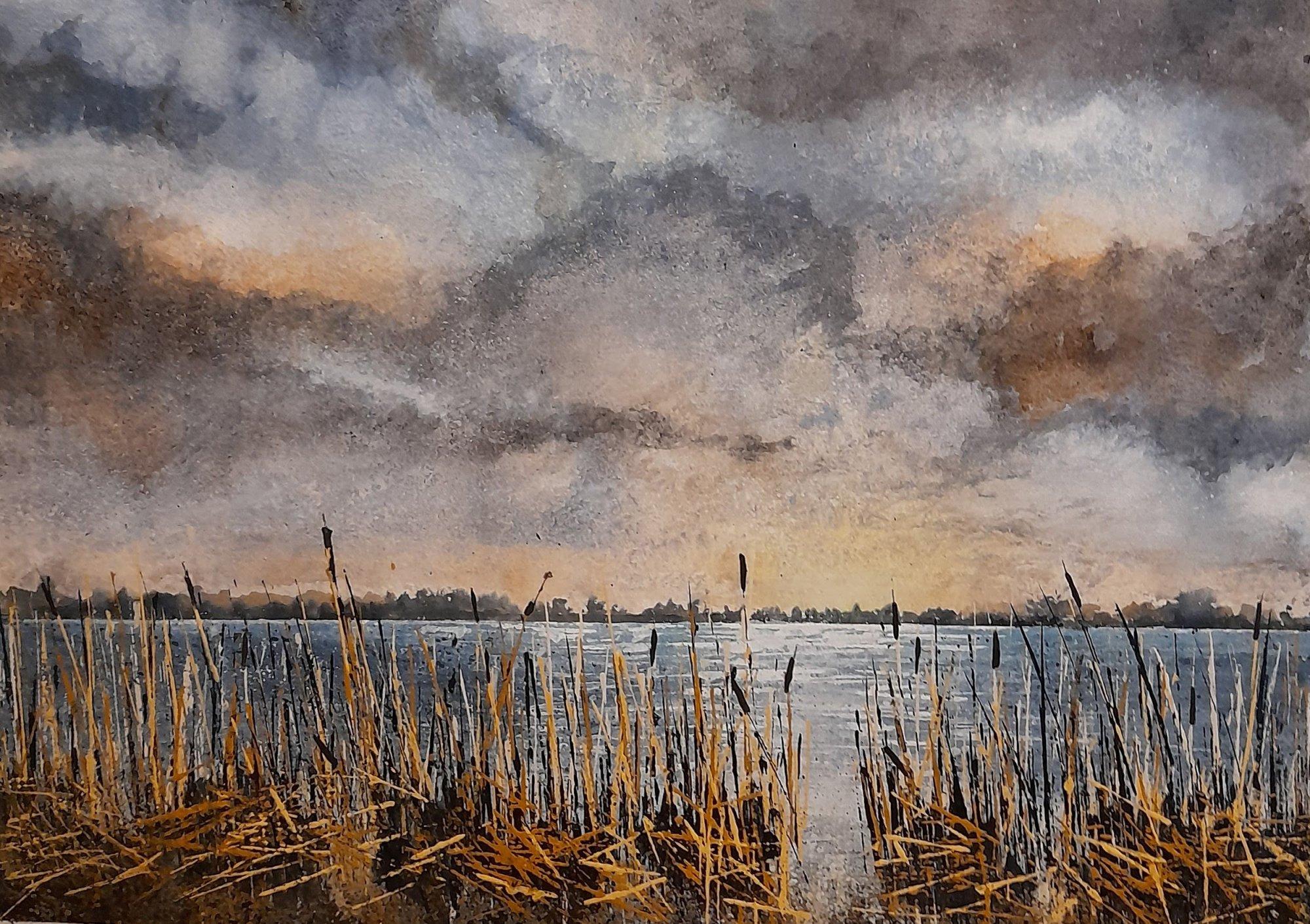 Winter Rushes Original Landscape Art
