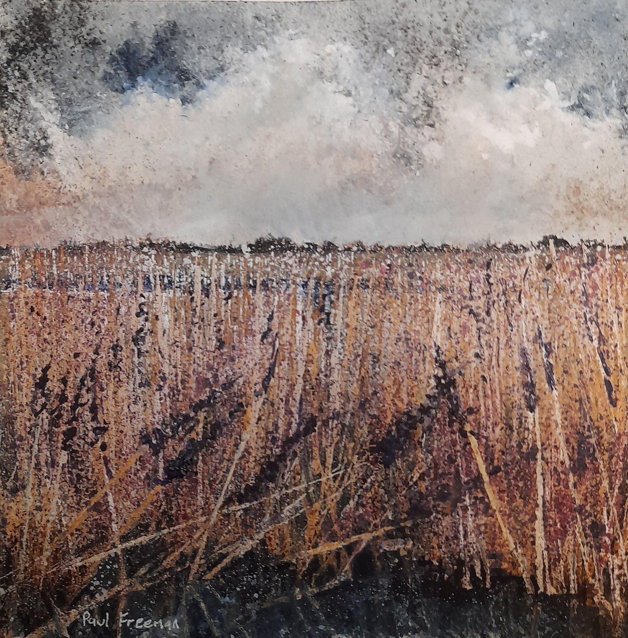 winter reeds Original Landscape Art